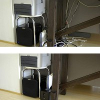 how to hide cables under desk